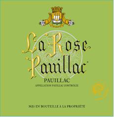 Etiquette la rose pauillac